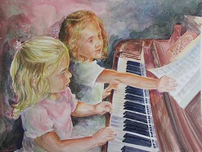 Painting - The Piano Lesson by Gloria Turner