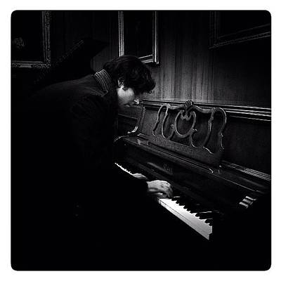 Piano Photograph - The Piano Man by Natasha Marco