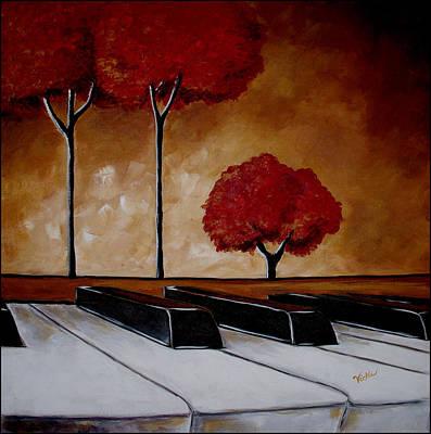 The Piano Man's Dream Art Print by Vickie Warner