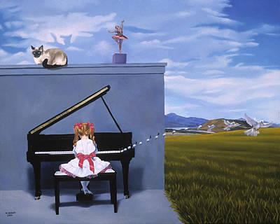 The Piano Player Art Print by Michael Bridges