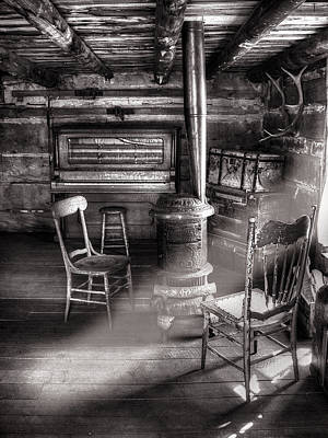 Old Wood Burning Stove Photograph - The Piano Room by Ken Smith