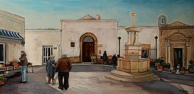 The Piazza Art Print by Anne Parker