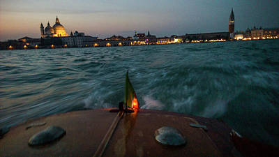 Piazza San Marco Photograph - The Piazza San Marco From A Water Taxi by Stephen Alvarez