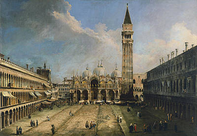 The Piazza San Marco In Venice Art Print by Canaletto