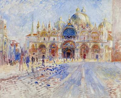 The Piazza San Marco Print by Pierre Auguste Renoir