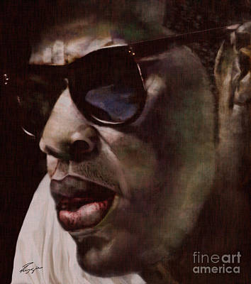 Jigger Man Painting - The Pied Piper Of Intrigue - Jay Z by Reggie Duffie