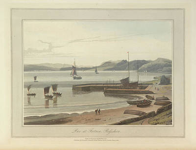 In The Round Photograph - The Pier At Fortrose In Rosshire by British Library