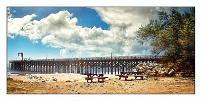 The Pier At Gaviotta Art Print