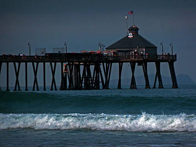 Photograph - The Pier At Imperial Beach by Steve Battle