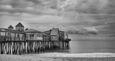 The Pier At Oob Art Print by Guy Whiteley