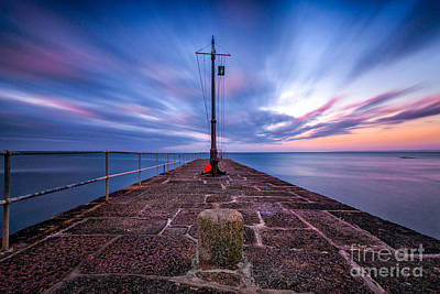 The Pier At Sun Rise Art Print by John Farnan