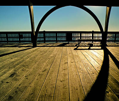 The Pier At Tybee Island Art Print by Steven  Michael