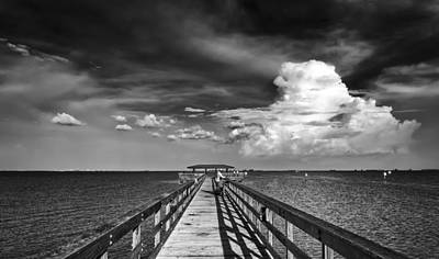 Stormy Weather Photograph - The Pier by Marvin Spates