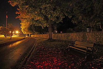 The Pier On An Autumn Evening Art Print