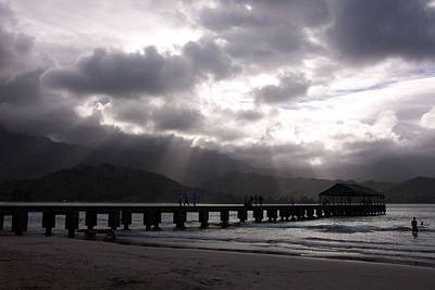 Photograph - The Pier On Hanalei Bay In Kauai Hawaii by Charlayne Grenci