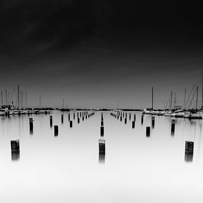 Photograph - The Pier by Tin Lung Chao