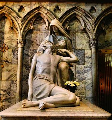 The Pieta In New York City Art Print by Dan Sproul