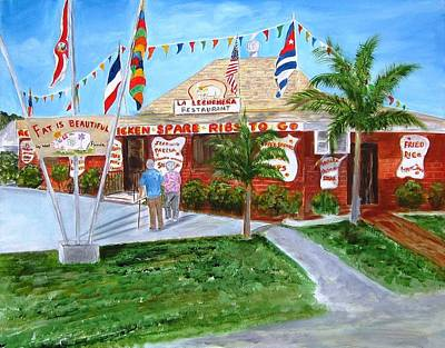 Painting - The Pig Restaurant by Linda Cabrera