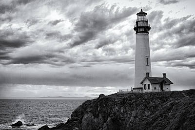 Photograph - The Pigeon Point Beacon by Eduard Moldoveanu