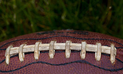 Footballs Closeup Photograph - The Pigskin by David Patterson