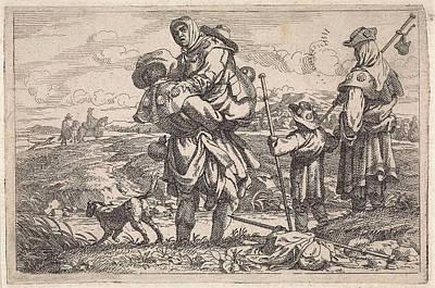 Baptist Drawing - The Pilgrims, Jan Baptist De Wael by Jan Baptist De Wael