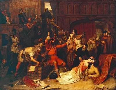 The Pillaging Of A Jew S House In The Reign Of Richard I  Print by Celestial Images