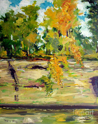 Limestone Painting - The Pillars by Charlie Spear