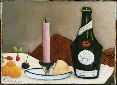 Painting - The Pink Candle by Henri Rousseau