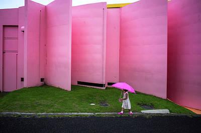 Umbrella Wall Art - Photograph - The Pink Color World by Tetsuya Hashimoto