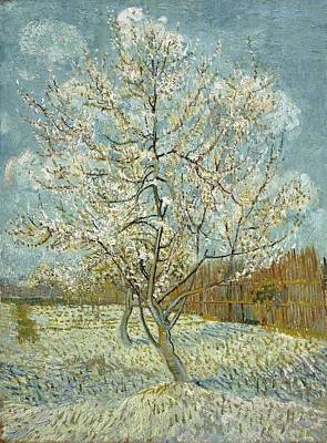 Netherlands Painting - The Pink Peach Tree by Vincent van Gogh