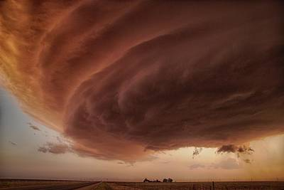 Rotation Photograph - The Pink Storm by Alexander Fisher