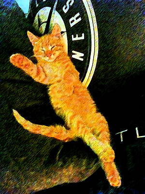Orange Tabby Digital Art - The Pinup by Eric Forster
