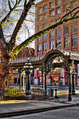 Photograph - The Pioneer Square Pergola - Seattle by David Patterson