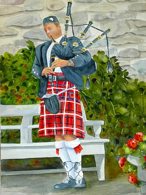 Painting - The Piper by Becky Taylor