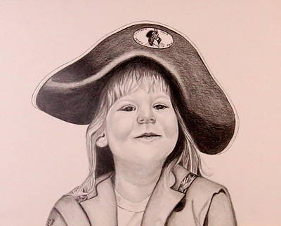 Drawing - The Pirate by Sharon Schultz