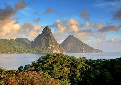 Saint Lucia Photograph - The Pitons - Saint Lucia by Brendan Reals