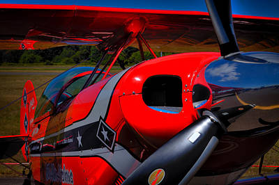 Airplanes Photograph - The Pitts S2-b Biplane - Will Allen Airshows by David Patterson
