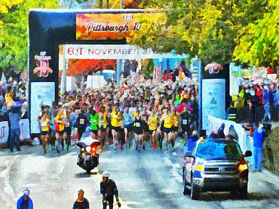 Digital Art - The Pittsburgh Eqt 10 Miler. 1 by Digital Photographic Arts