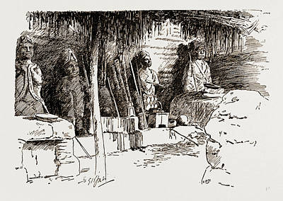 The Place Where Cannibal Rites And Human Sacrifices Art Print