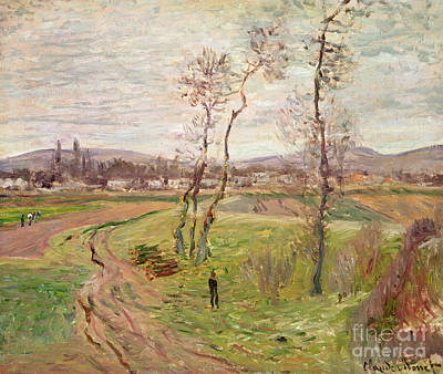 Distant Painting - The Plain At Gennevilliers by Claude Monet