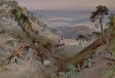 The Plains, Landour Church, Mussoorie, 1884 Wc Art Print