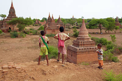 The Plains Of Bagan Art Print by Zhang Bo