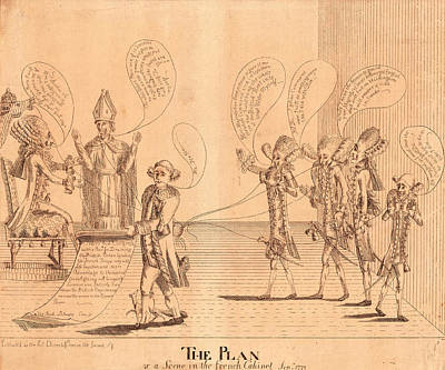 British Invasion Drawing - The Plan, Or A Scene In The French Cabinet by Litz Collection