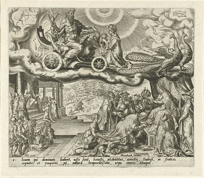 Pisces Drawing - The Planet Jupiter And Its Children, Harmen Jansz Muller by Harmen Jansz Muller And Hieronymus Cock