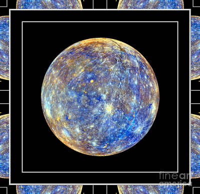 Space Photograph - The Planet Mercury Self Framed by Rose Santuci-Sofranko