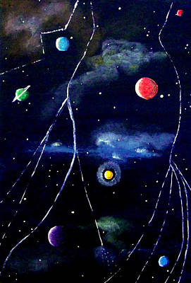 Painting - The Planets2 by Sandy Wager