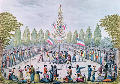 The Plantation Of A Liberty Tree During The Revolution, C.1792 Wc On Paper Art Print by Etienne Bericourt