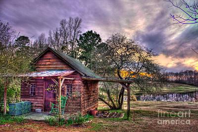 The Play House At Sunset Near Lake Oconee. Print by Reid Callaway
