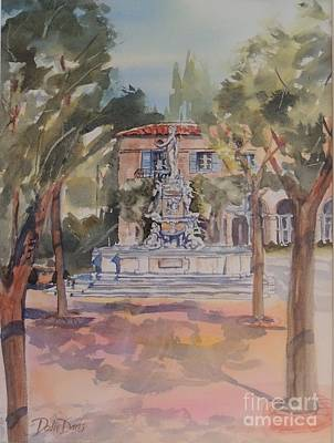 Impressionisttic Painting - The Plaza by Dodie Davis