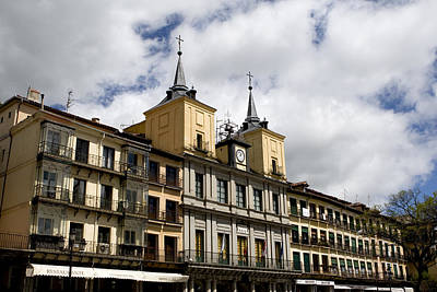 Photograph - The Plaza Mayor Segovia by Lorraine Devon Wilke